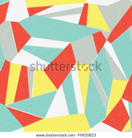 Seamless colorful abstract retro background