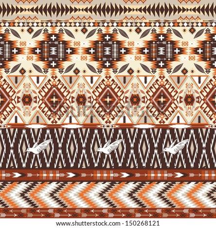 ShutterStock Seamless colorful aztec geometric tribal pattern ...