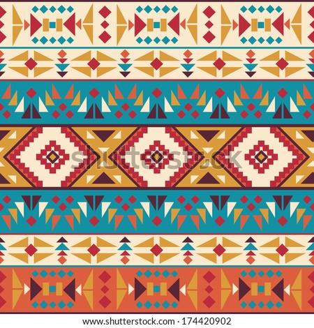 Seamless Colorful Aztec Pattern EZ Canvas Best Aztec Pattern