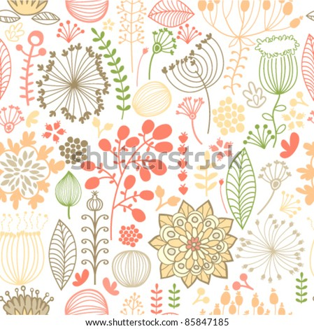 seamless colorful botanical background