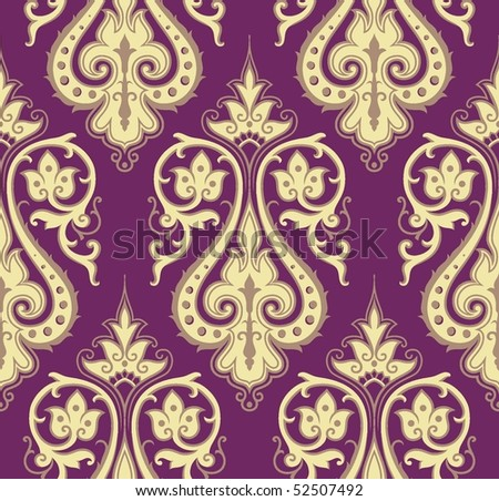 Seamless colorful damask background