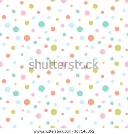 seamless colorful dots pattern