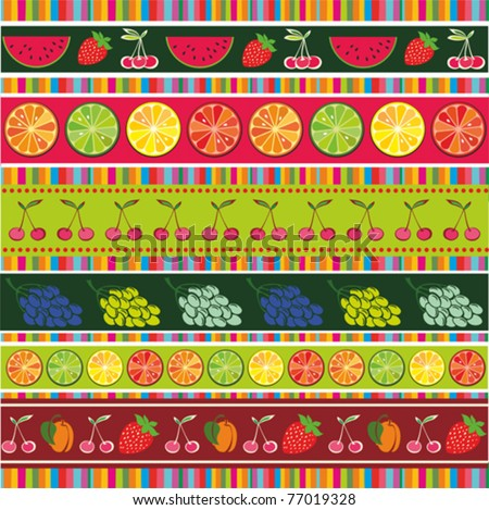 seamless colorful fruit background. Vector illustration