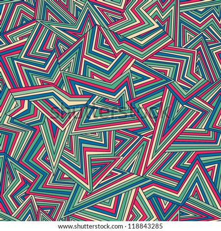 Seamless colorful geometric pattern. Vector illustration