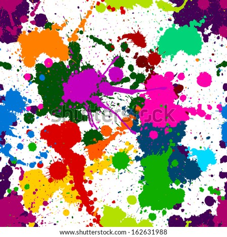seamless colorful ink color