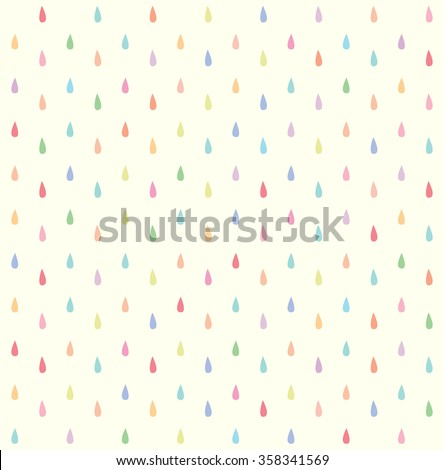 seamless colorful rain drops