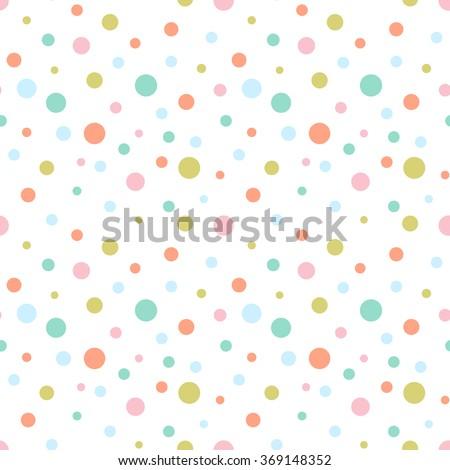 Seamless colorful retro dots pattern  Photo stock ©