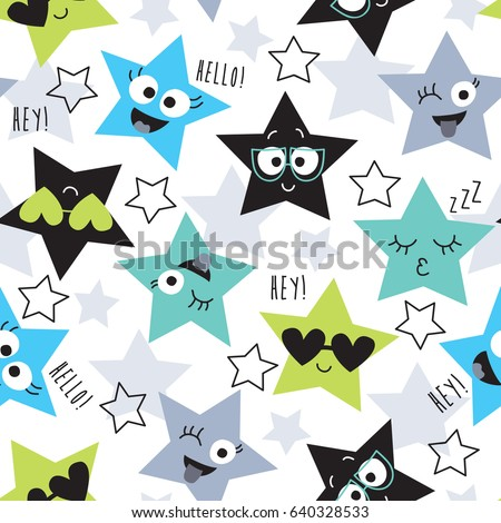 seamless colorful star pattern