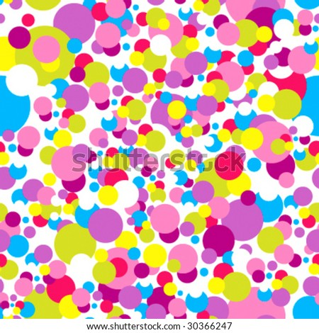 Seamless confetti pattern in childish colors - stock vector