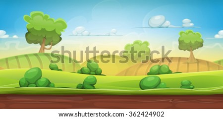 seamless country landscape for