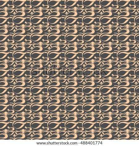 Seamless creative hand-drawn pattern of abstract smooth elements. Vector illustration. #488401774