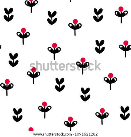 Seamless creative pattern. Vector background with different elements. Design for prints, shirts and posters.