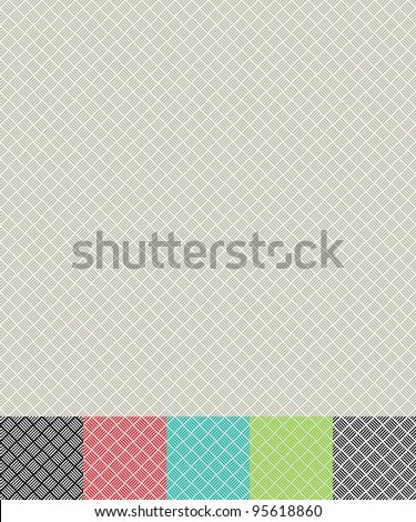 seamless cross hatch pattern background with color variations