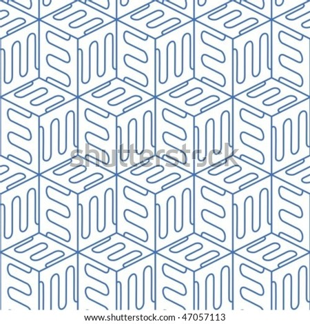Seamless cubic pattern. To see similar seamless patterns please visit my gallery.