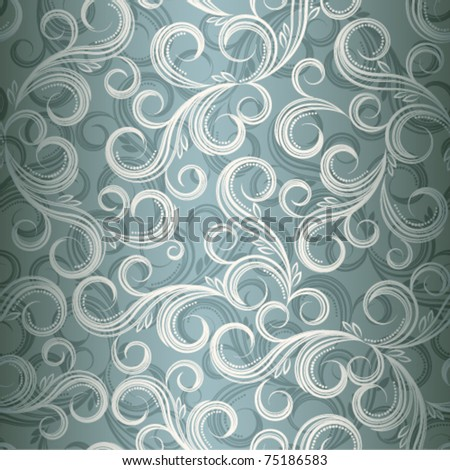 Seamless curl floral background, Illustration in eps10 format.