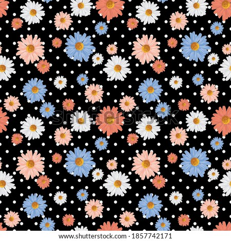 seamless cute floral ditsy