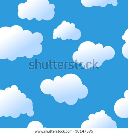 Seamless cute sky vector