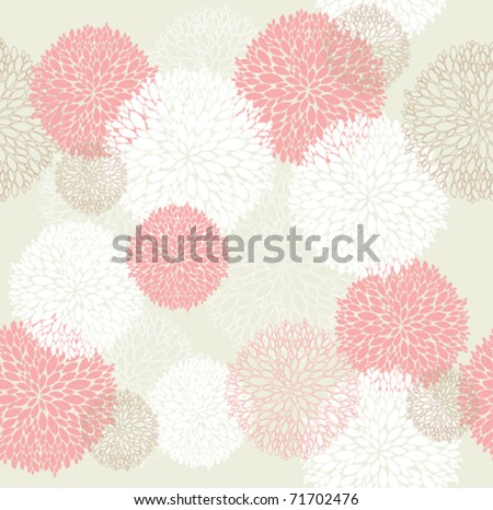 Seamless cute spring or summer flowers pattern. Floral background.