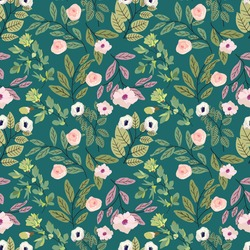 seamless cute vintage tiny flower with leaf pattern background. Seamless floral pattern background vector Illustration for print, Wallpaper, fashion template