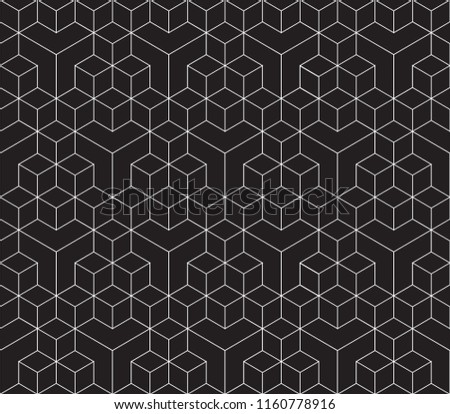 Seamless 3d cube pattern background texture. Isometric pattern.