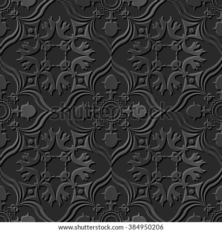 seamless 3d elegant dark paper