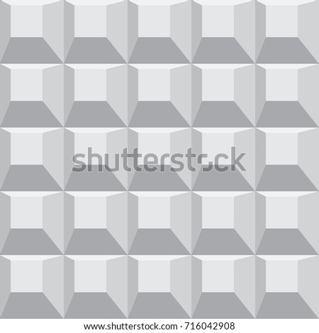 seamless 3d geometric pattern