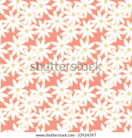 Seamless daisies fabric texture