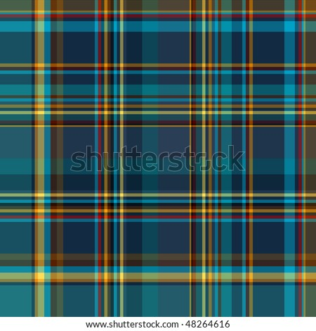 "Seamless ""dark blue"" checkered pattern with yellow lines ( vector EPS 10)"