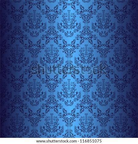 seamless dark blue wallpaper in