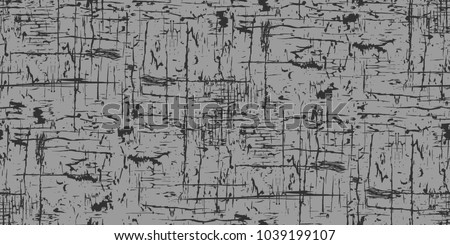 Seamless dark gray background. Grunge texture, seamless pattern. Abstract vector. Layer for creating textures and grunge surfaces. The surface of the old wall. Wiped, worn, scratched. Eps 10