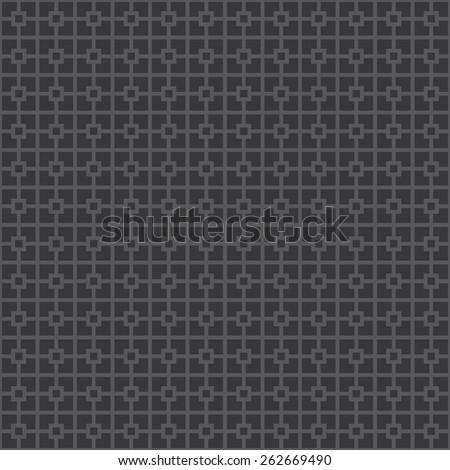 Seamless dark gray classical architecture square pattern vector