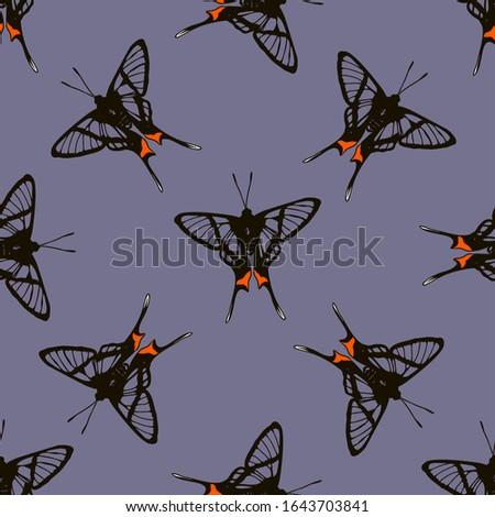 seamless dark pattern with