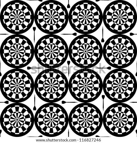 seamless dartboard pattern