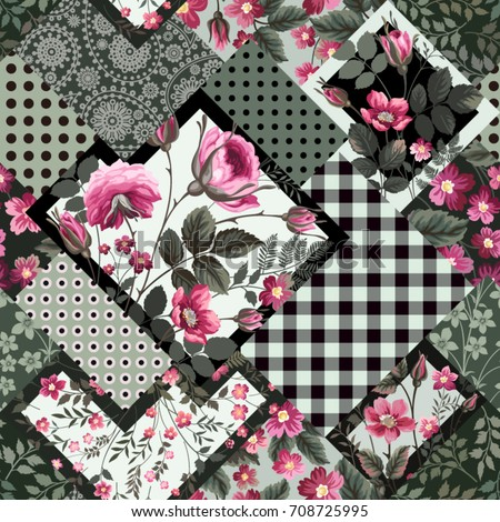 seamless decorative floral