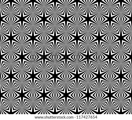 Seamless decorative hexagons texture. Vector art.
