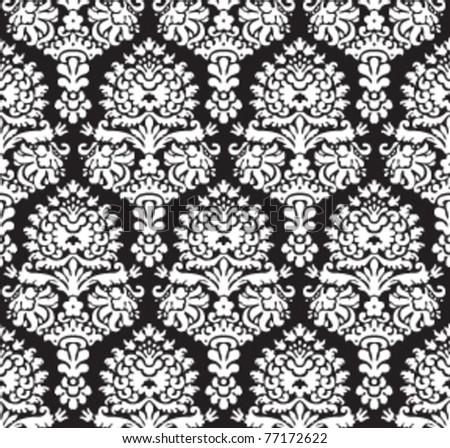 Seamless decorative ornamental fashion wallpaper