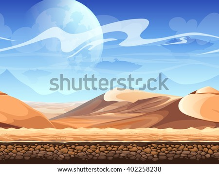 seamless desert with