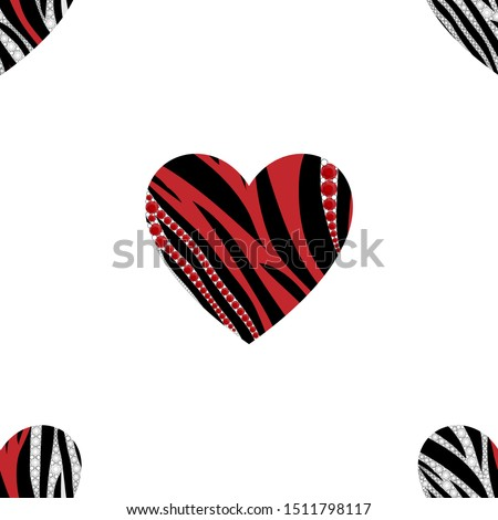seamless designs of heart shape