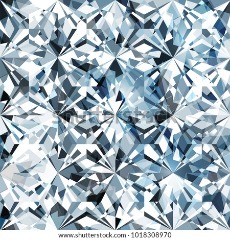 Seamless diamond pattern - vector illustration of crystallic background