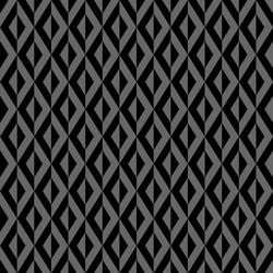 Seamless diamonds pattern. Black and gray geometric texture. Vector art.