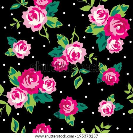 seamless ditsy dot rose