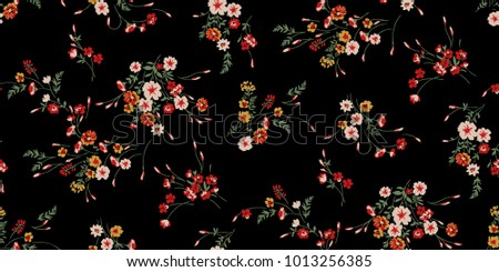 Seamless Ditsy Floral Pattern