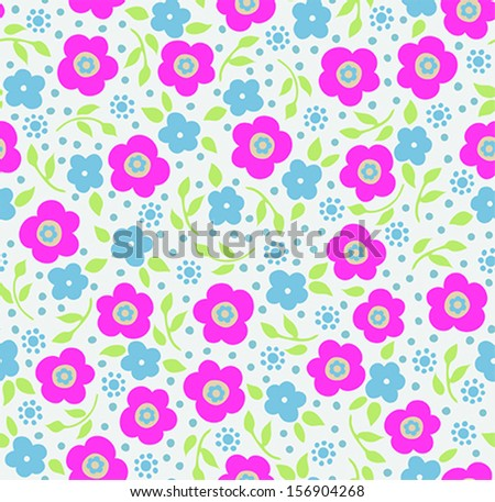 Seamless Ditsy Flower Pattern