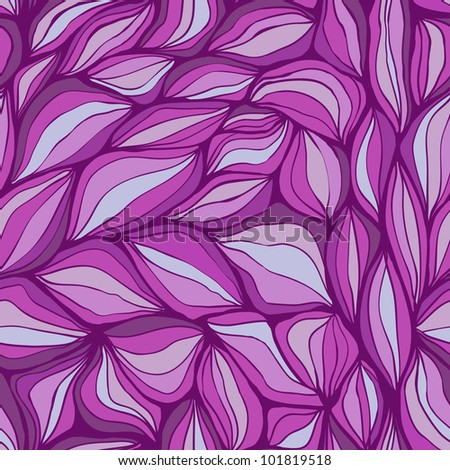 Seamless doodle abstract violet waves pattern