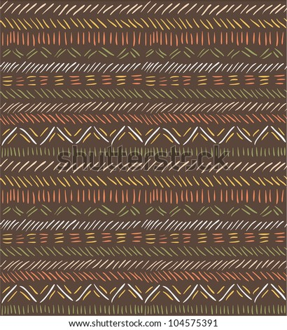 Seamless doodle pattern in ethnic style #1