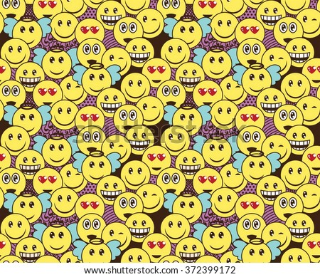 seamless doodle pattern with
