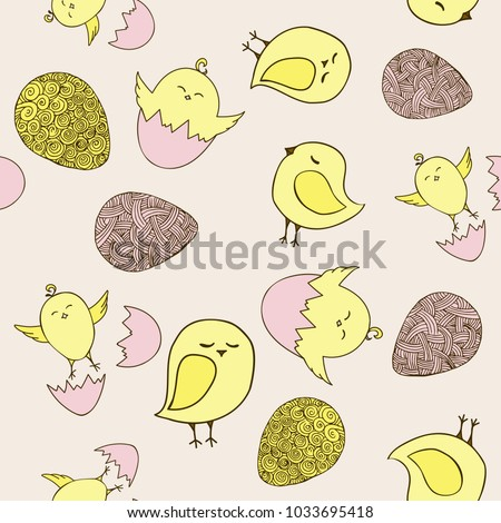 seamless easter pattern with