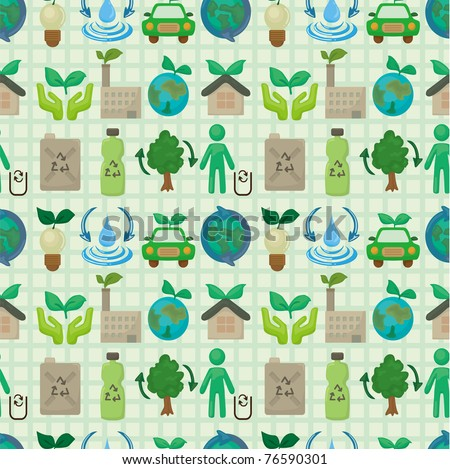 seamless eco icon pattern