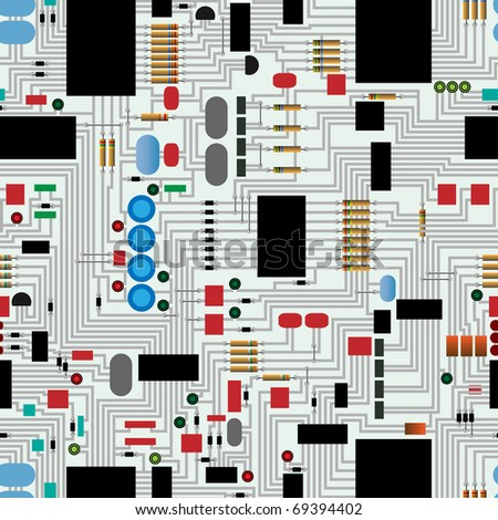 Seamless electronic circuit board repeating pattern
