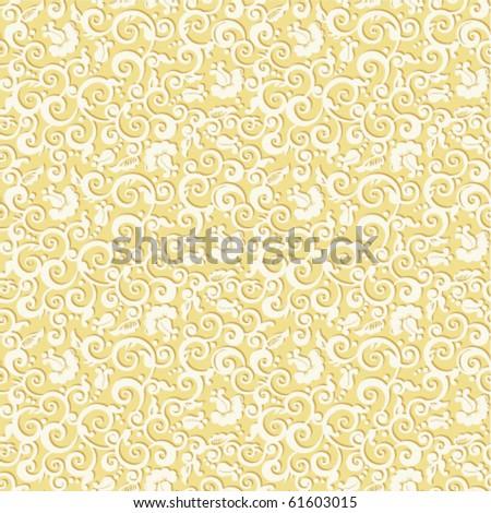 Seamless elegant floral pattern vector vintage background with embossed effect